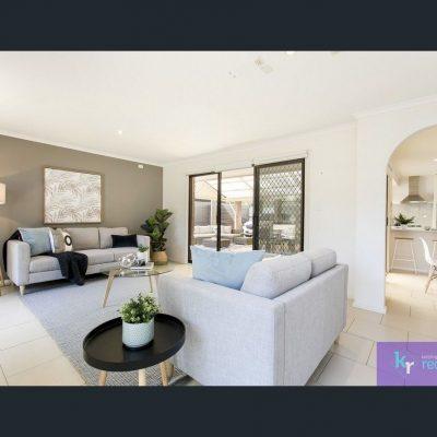 Lounge suite grey linen